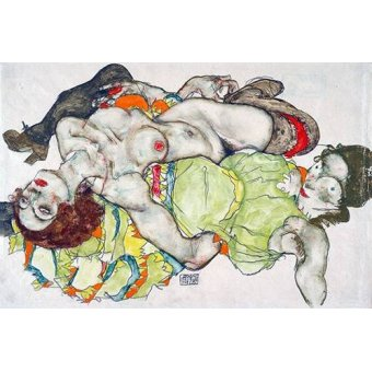 Tableaux de Nus - Tableau -Female Lovers, 1915- - Schiele, Egon