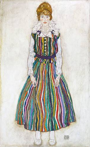 tableaux-de-personnages - Tableau -Portrait of Edith (the artist's wife), 1915- - Schiele, Egon
