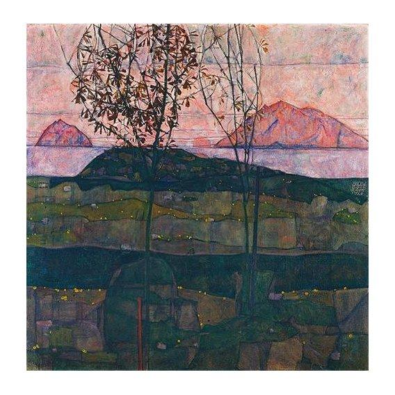 pinturas de paisagens - Quadro -Setting Sun, 1913-