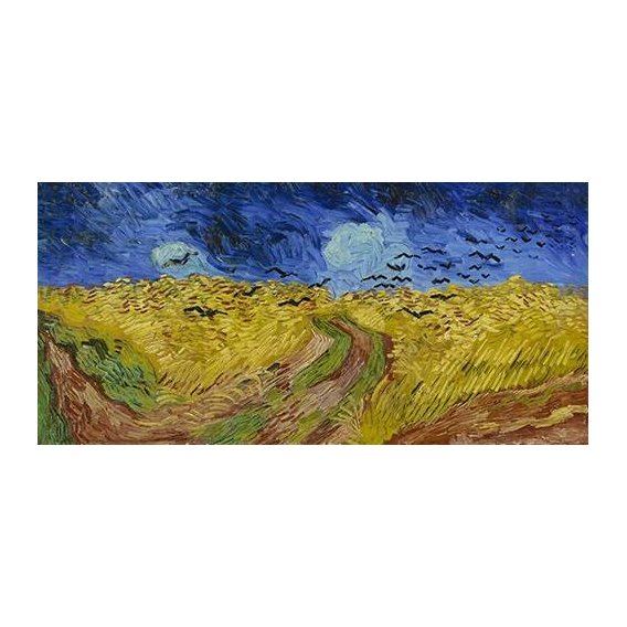 pinturas de paisagens - Quadro -Wheatfield with Crows, 1890-