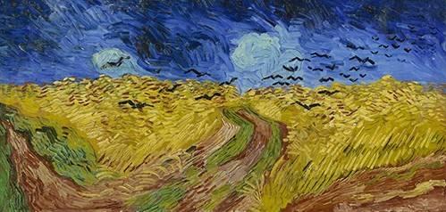 tableaux-de-paysages - Tableau -Champ de blé avec des corbeaux, 1890- - Van Gogh, Vincent