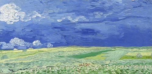 tableaux-de-paysages - Tableau -Champ de blé sous les nuages de tempête- - Van Gogh, Vincent