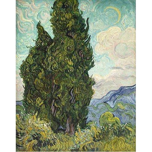 pinturas de paisagens - Quadro -Cipreses-