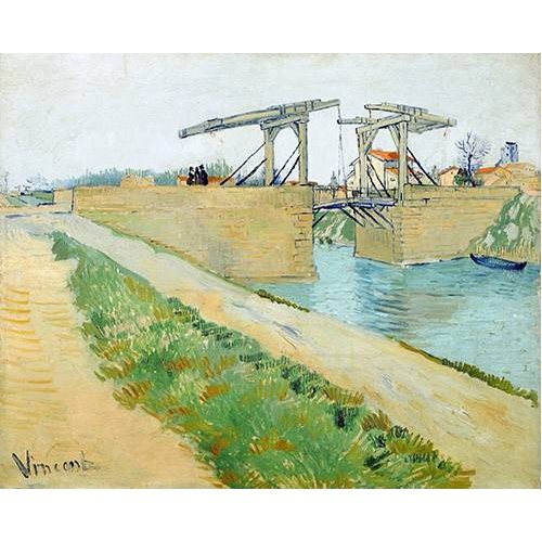 pinturas de paisagens - Quadro -The Langlois bridge, 1888-