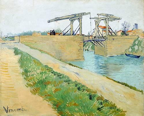tableaux-de-paysages - Tableau -Pont Langlois, 1888- - Van Gogh, Vincent