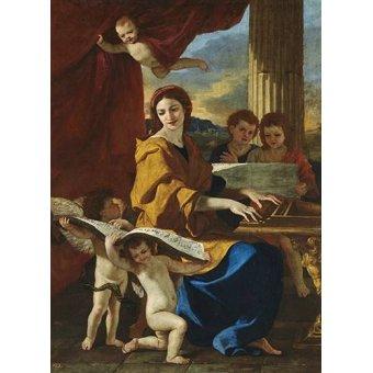 Tableaux religieuses - Tableau -Santa Cecilia- - Poussin, Nicolas