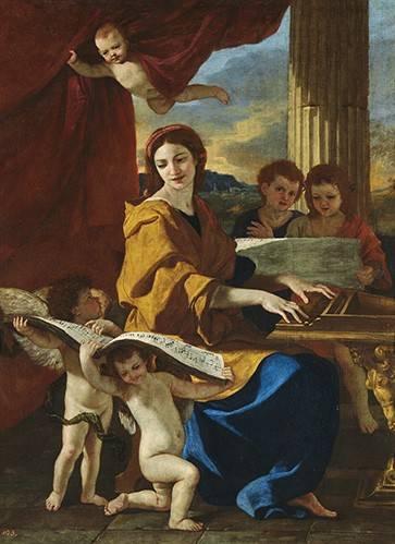 tableaux-religieuses - Tableau -Santa Cecilia- - Poussin, Nicolas
