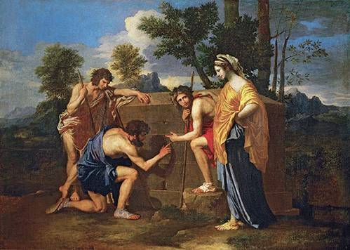 tableaux-de-personnages - Tableau -Los Pastores de Arcadia ó - Et in Arcadia ego -- - Poussin, Nicolas