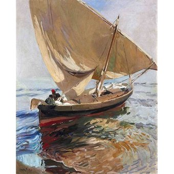 Tableau -Route de pêche, 1908-