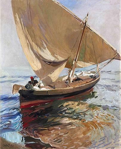 tableaux-de-paysages-marins - Tableau -Route de pêche, 1908- - Sorolla, Joaquin