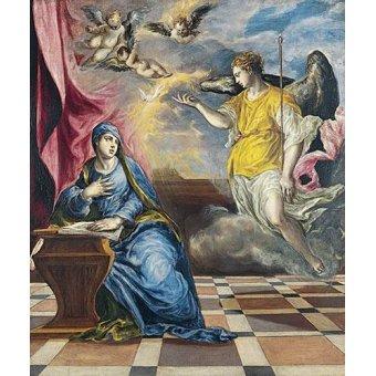 Tableaux religieuses - Tableau -L'annonciation, 1576- - Greco, El (D. Theotocopoulos)