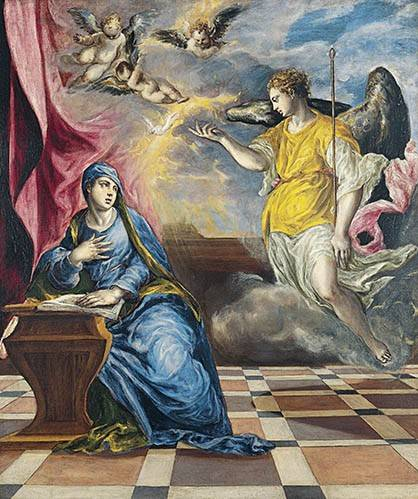 tableaux-religieuses - Tableau -L'annonciation, 1576- - Greco, El (D. Theotocopoulos)
