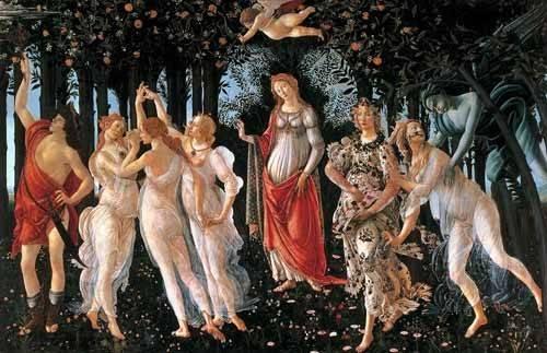 tableaux-de-personnages - Tableau -La primavera- - Botticelli, Alessandro