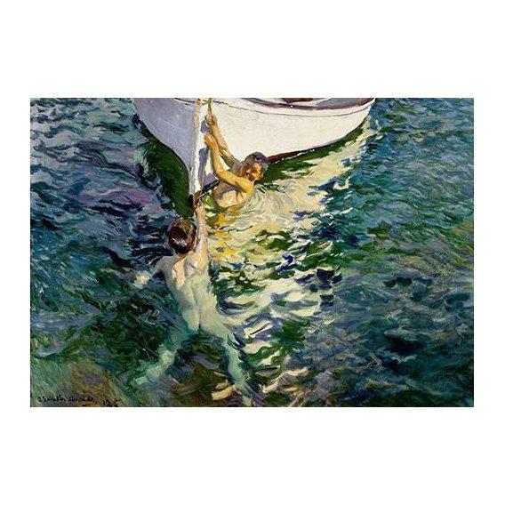 pinturas do retrato - Quadro -El bote blanco-