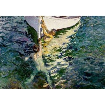 Tableaux de paysages marins - Tableau -Le bateau blanc- - Sorolla, Joaquin