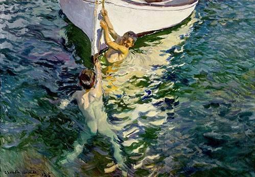 tableaux-de-personnages - Tableau -Le bateau blanc- - Sorolla, Joaquin