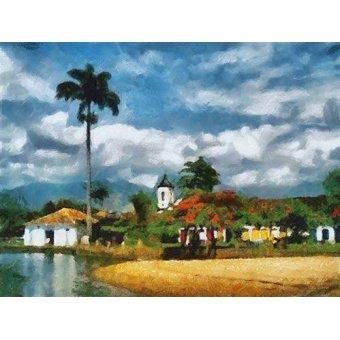 Tableaux de paysages marins - Tableau -Moderno CM5994- - Medeiros, Celito