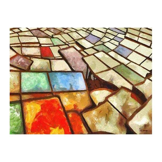 pinturas abstratas - Quadro -Moderno CM6766-