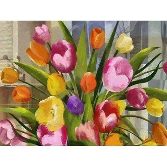 Tableaux de Fleurs - Tableau -Moderno CM7121- - Medeiros, Celito