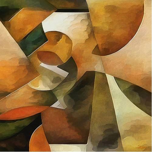 pinturas abstratas - Quadro -Moderno CM8888-