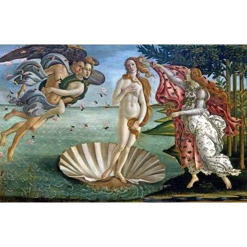 pinturas do retrato - Quadro -El nacimiento de Venus-