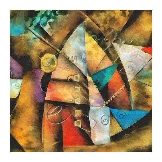pinturas abstratas - Quadro -Moderno CM9002-