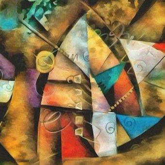 Tableaux abstraits - Tableau -Moderno CM9002- - Medeiros, Celito