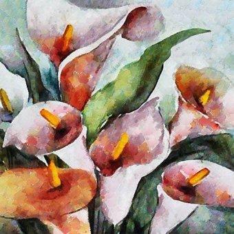 Tableaux de Fleurs - Tableau -Moderno CM9920- - Medeiros, Celito