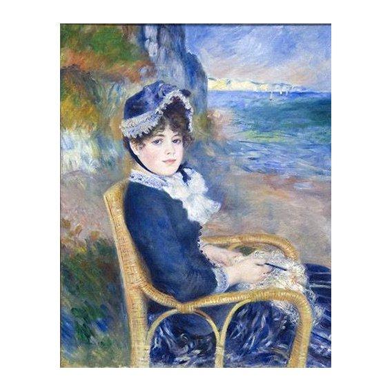 pinturas do retrato - Quadro -By the Seashore, 1883-