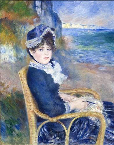 tableaux-de-personnages - Tableau -Au bord de la mer, 1883- - Renoir, Pierre Auguste