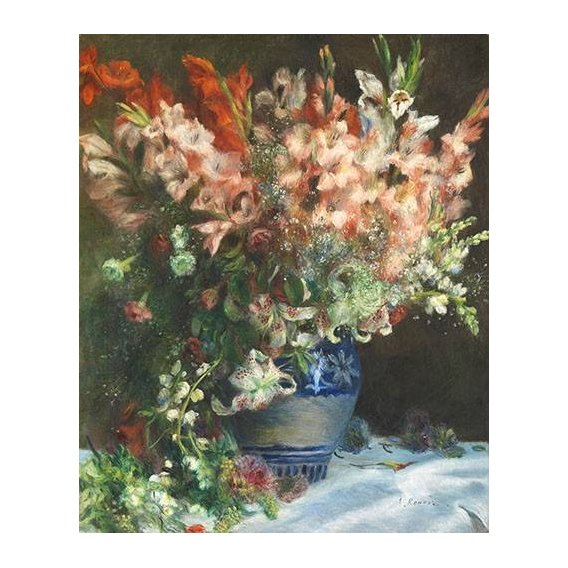 imagens de flores - Quadro -Gladiolos en un Jarron-