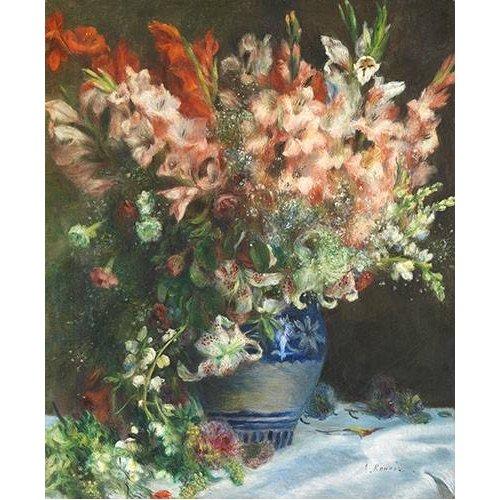 Tableau -Glaïeuls dans un vase-