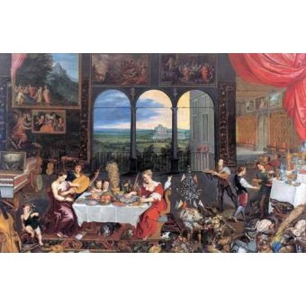 Tableaux de Personnages - Tableau -El gusto, el oido y el tacto- - Bruegel