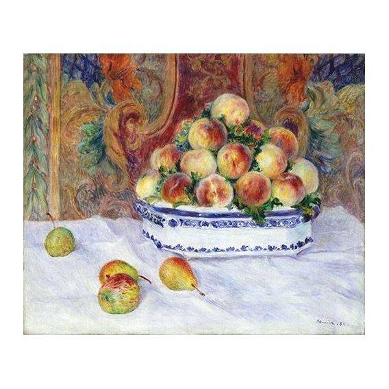 naturezas mortas - Quadro -Still Life with Peaches, 1881-
