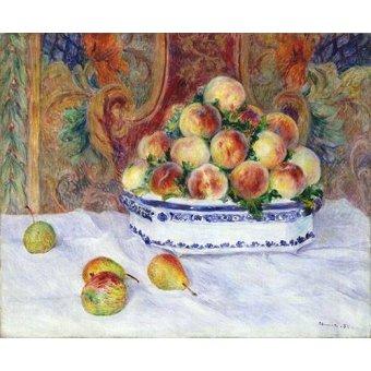 Tableaux nature morte - Tableau -Nature morte aux pêches, 1881- - Renoir, Pierre Auguste