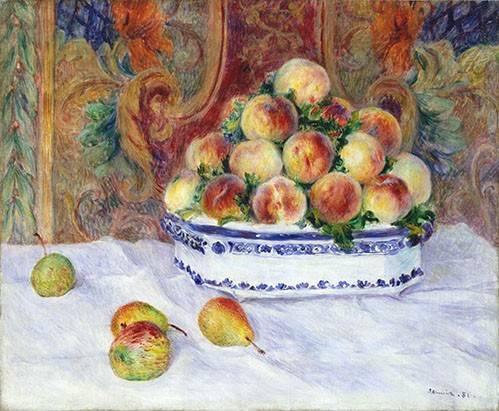 tableaux-nature-morte - Tableau -Nature morte aux pêches, 1881- - Renoir, Pierre Auguste