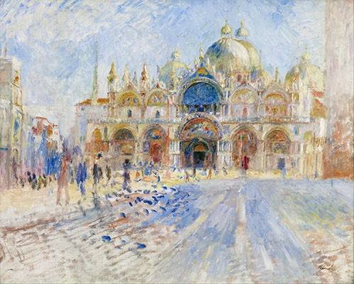 tableaux-de-paysages - Tableau -Place San Marco, Venise- - Renoir, Pierre Auguste