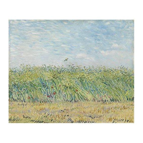 pinturas de paisagens - Quadro -Wheatfield with Partridge,1887-