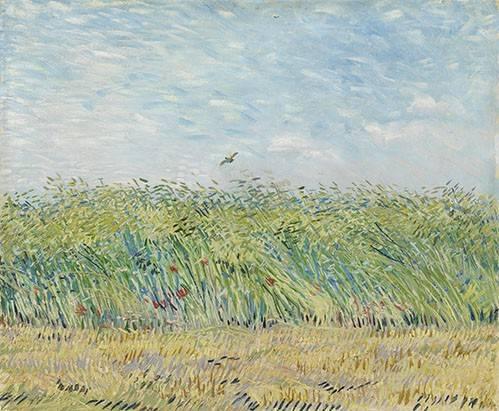 tableaux-de-paysages - Tableau -Champ de blé avec perdrix,1887- - Van Gogh, Vincent