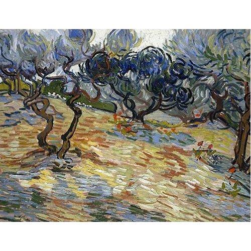 pinturas de paisagens - Quadro -Olive Trees, 1889-
