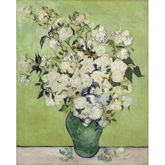 imagens de flores - Quadro -Vase of Roses, 1890-