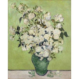 Tableaux de Fleurs - Tableau -Vase de Roses, 1890- - Van Gogh, Vincent