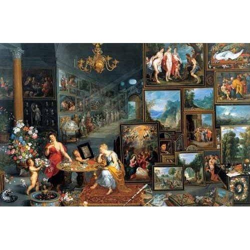 pinturas do retrato - Quadro -La vista y el olfato-