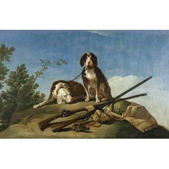 Tableaux de faune - Tableau -Perros en trailla, 1775_(caza)- - Goya y Lucientes, Francisco de
