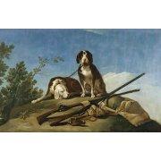 Tableau -Perros en trailla, 1775_(caza)-