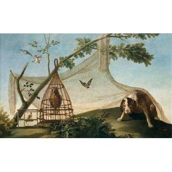 Tableaux de faune - Tableau -Caza con reclamo- - Goya y Lucientes, Francisco de