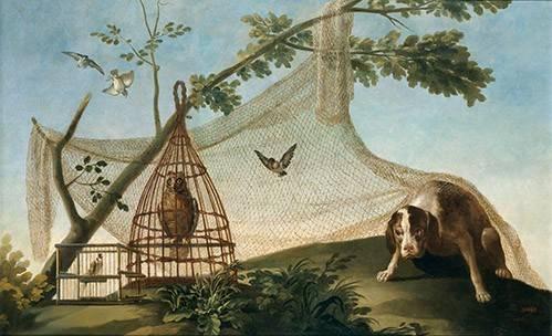 tableaux-de-faune - Tableau -Caza con reclamo- - Goya y Lucientes, Francisco de