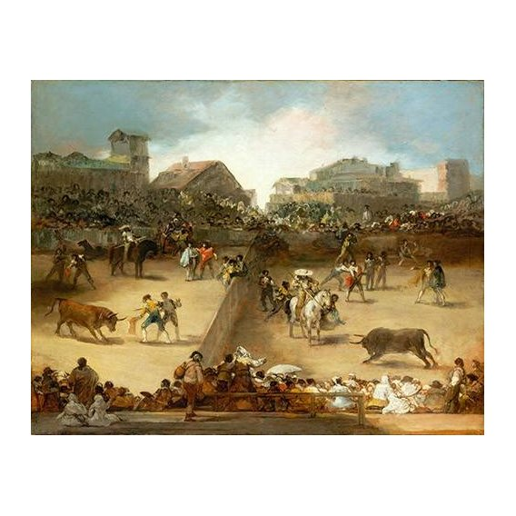 fotos de fauna - Quadro -Corrida de toros en una plaza partida-