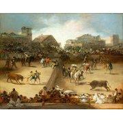 Tableau -Corrida de toros en una plaza partida-