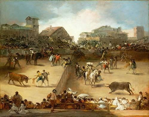 tableaux-de-faune - Tableau -Corrida de toros en una plaza partida- - Goya y Lucientes, Francisco de